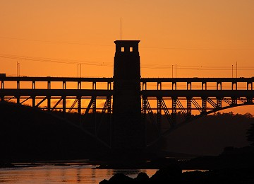 Britannia Bridge sunset