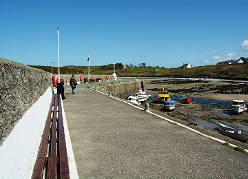 Cemaes bay harbour wall