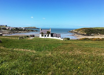 Cemaes bay view from road