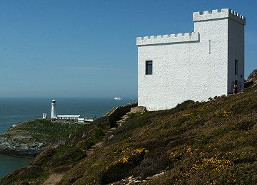 Elins Tower and South Stack lighthouse with irish ferries