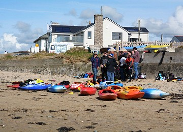 Getting ready to have fun at Rhosneigr