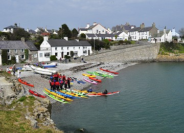 Kayaking from Moelfre south beach