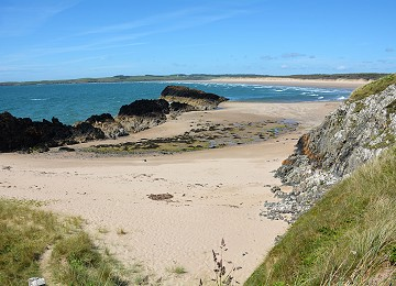 One of the many beautiful beaches on Llanddwyn Island