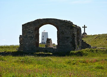 St. Dwynwen's church on Llanddwyn Island