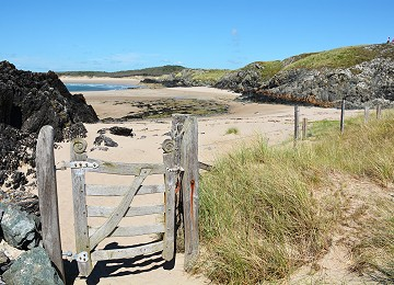 Gateway to one of the many beautiful beaches on Llanddwyn Island