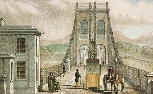 Menai Suspension Bridge painting
