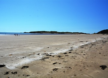 Miles of sand on way to Llanddwyn Island