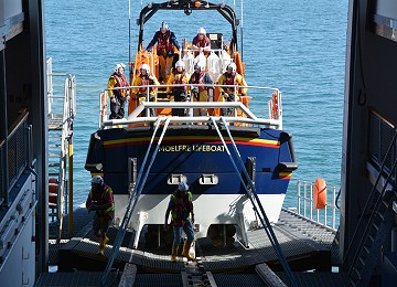 Moelfre Lifeboat after training exercise