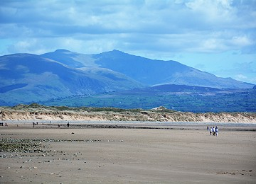 Mount Snowdon from Llanddwyn beach