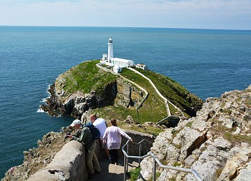 Walking down 400 steps to South Stack Lighthouse
