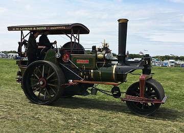 Steam tractor at Anglesey Vintage rally