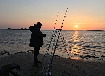 Sunset fishing at Rhosneigr