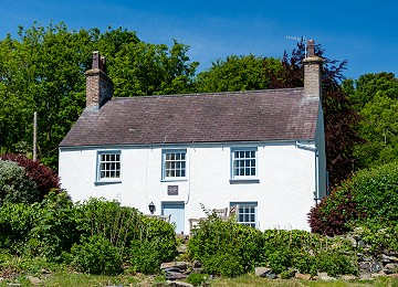 Min Y Mor the former home of Anglesey artist Kyffin Williams on the shores