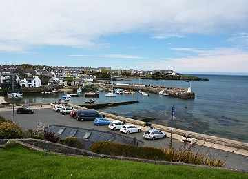 The inner harbour at Cemaes bay