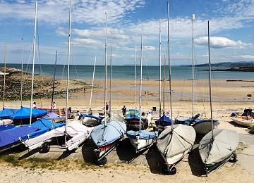 Sailing at Traeth Bychan is very popular