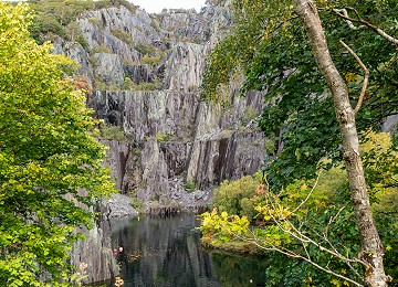Vivian Quarry and pool at the Padarn Country Park in Llanberis