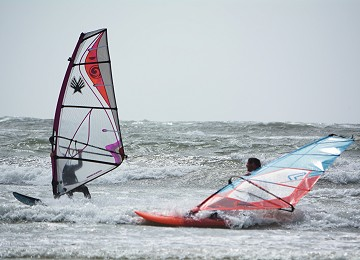 windsurfing at rhosneigr on anglesey