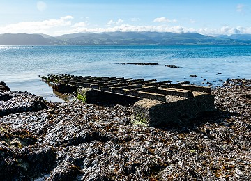 Old lifeboat launching rails at Penmon lifeboat station