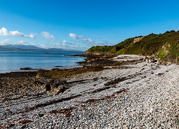 The south beach at Penmon Point close to the lifeboat station