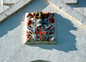 Trinity House coat of arms on Penmon Coastguard houses
